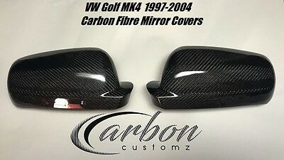 VW Golf MK4 Carbon fibre mirror covers *Replacement* Style MK4 R32 GTI 97-03