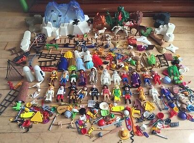 Playmobil Bundle. Loads Of Figures, Animals, Dragon, Dinosaur, Accessories Etc.