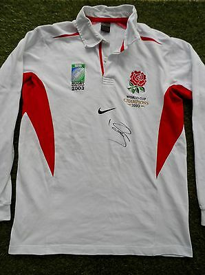 Sir Clive Woodward Hand Signed England 2003 Rugby Union Shirt - COA Autograph