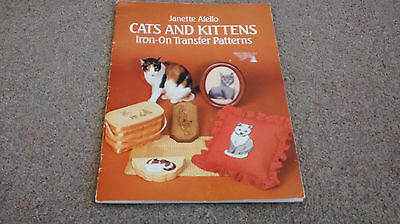 CATS & KITTENS  EMBROIDERY  TRANSFERS BOOK , 24 reusable PAGES, FREEPOST