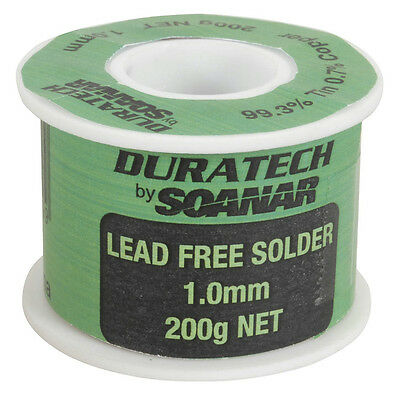 NEW Lead Free Solder 1mm 200g Roll NS3094