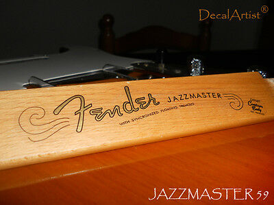 Replacement decal for 60´s Fender Jazzmaster Decal Vintage Logo