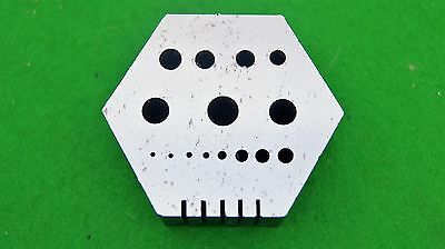 Hexagonal staking plate for use in Antique clock and Jewellery repair