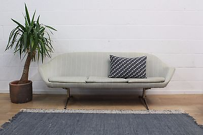 Original Vintage 1960s Danish Shell / Egg Three Seater Sofa