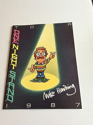 Mike Harding One Night Stand Tour Programme 1987