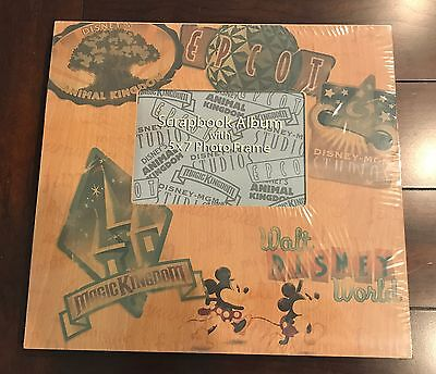 Disney Parks ALL PARKS RETRO LOGO Scrapbook Photo Album Kit NEW Sealed  NLA