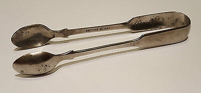 Silver Plate SUGAR TONGS - William Page & Co, BIRMINGHAM