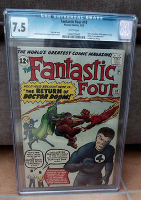 Marvel Comics 7.5 CGC FANTASTIC FOUR #10 Reed Richards DR DOOM