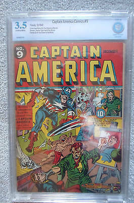 Marvel Timely Comic issue 9 CBCS 3.5 CAPTAIN AMERICA Golden age grade cgc