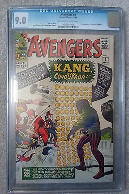Marvel comics AVENGERS 8 CGC 9.0 high grade 1st Kang captain america iron man