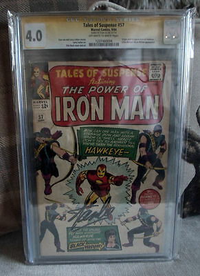 Marvel Comics 4.0 Signed TALES OF SUSPENSE 57 1st HAWKEYE Stan lee