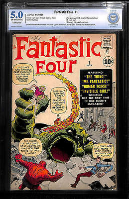 Marvel Comics 5.0 CBCS CGC FANTASTIC FOUR #1 MOLEMAN Human thing