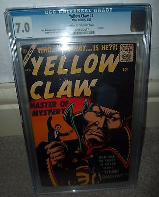 Marvel Comic atlas CGC 7.0 YELLOW CLAW last issue jack kirby 1957