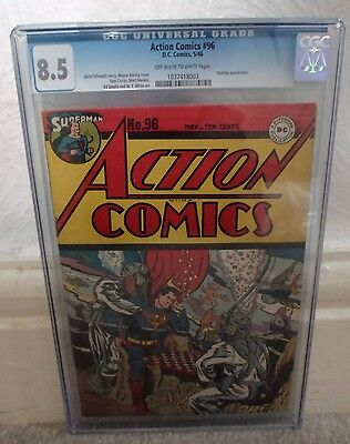 DC ACTION COMICS 96 SUPERMAN 8.5 CGC high grade golden age