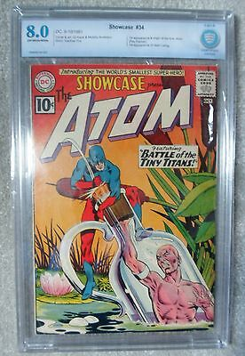 DC Comics SHOWCASE 34 High grade 8.0 ATOM 1st Appearance Palmer CBCS cgc