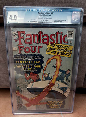 Marvel Comics 4.0 CGC FANTASTIC FOUR #3 1st costume Fantsticar