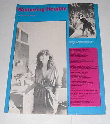 KATE BUSH 'WUTHERING HEIGHTS' Songwords poster!