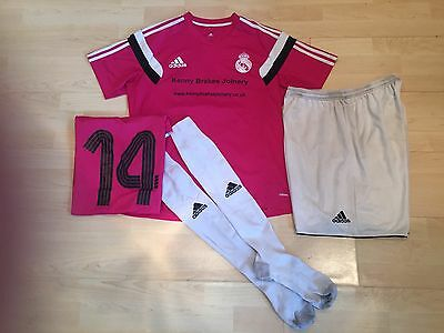 Full Adidas Team Football Kit Real Madrid Pink White Grassroots Large Squad