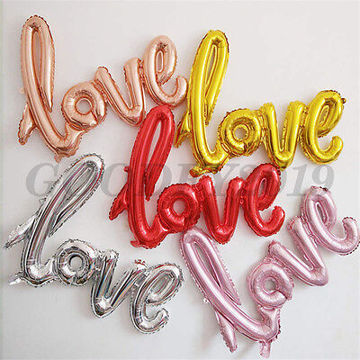 108*65cm Love Letter Wedding Foil Balloons Valentine's Day Decor Random Delivery