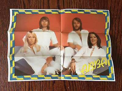 1980's ABBA Pop Rock Band Cereal Box Premium Mini Poster