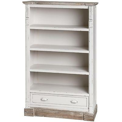 French Shabby Chic Tall Bookcase Book Shelves Bookshelf Unit Cabinet Furniture