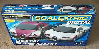 SCALEXTRIC DIGITAL SUPERCARS BUGATTI NEW BOXED SET C1322 with Lane Changing