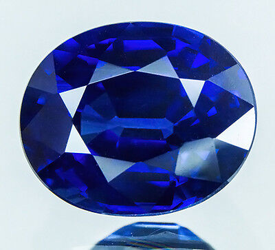 GIA CERTIFIED 1.43 cts. Top Unheated Natural Blue Sapphire From Thailand. VDO