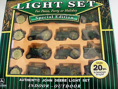 JOHN DEERE TRACTOR 20 Light String Set - Patio, RV, Camping, Party - Never used