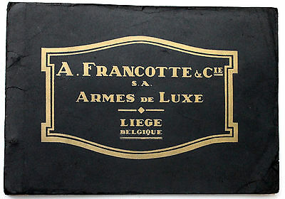 A. FRANCOTTE CATALOG 1930 westley richards purdey holland & holland shotgun