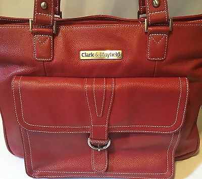 Clark and Mayfield Stafford Pro Leather Laptop Tote 15.6