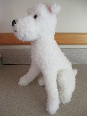 """12"""" Large TY BEANIE BABIES """"SNOWY"""" THE DOG THE ADVENTURES OF TIN TIN"""