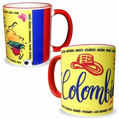 Colombia Mug 11 Oz. Colombia Flag Coffee/Tea Mugs & Cups Collectible Souvenirs