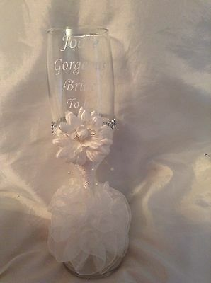 Gorgeous Bride To Be Champagne Flute - Hen Party/ Wedding Gift Idea