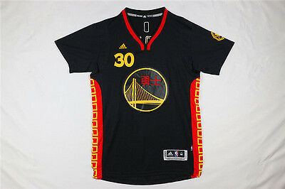 Stephen Curry #30 Golden State Warriors Chinese New Year Black Jersey Men S-XXL