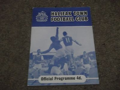 Rare Vintage Halifax Town V Leeds United West Riding Senior Cup 12Th March 1962