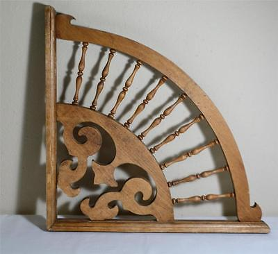 """Victorian Style Spindle Fan Wood Bracket Gingerbread Large 18"""""""