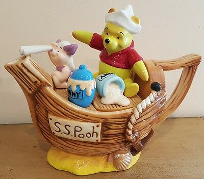 Cardew Collectable Disney Showcase Captain Pooh Novelty Teapot Lovely Condition