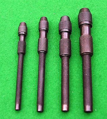 Pin vice set of 4 watchmaker/clock repair jewellery metal work