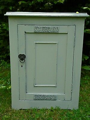 Pretty Victorian pitch pine cupboard/bedside cabinet/bathroom cabinet