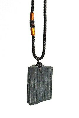 New Reiki Energy Charged Natural Raw Black Tourmaline Crystal Pendant Protective