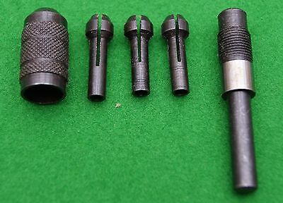 Pin chuck set with 3 collets watchmaker/clock repair jewellery metal work