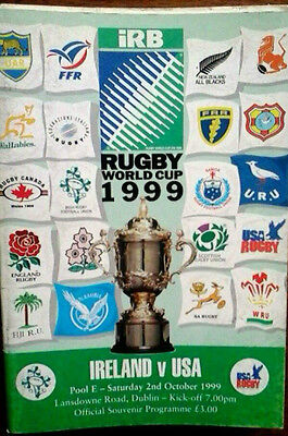 Ireland V Usa 2/10/1999 Rugby Union World Cup