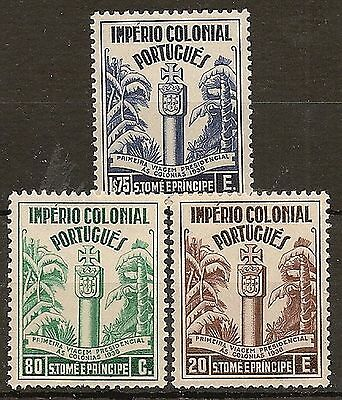 Portugese Colonies St Thomas 1938 President's Colonial Tour Set Sg371/73