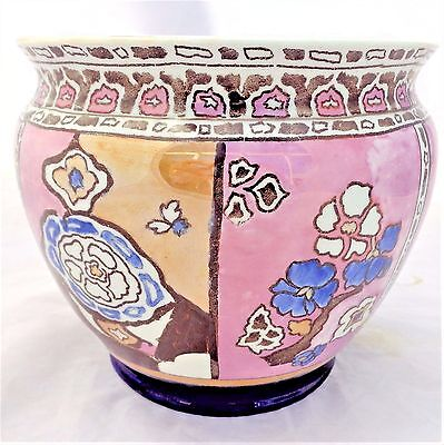Antique Art Nouveau Shelley Lustre Roumanian Pattern Jardiniere Planter c 1919