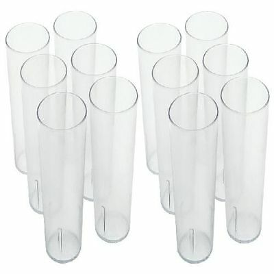 12 Pack Clear Plastic Tumbler Stackable Restaurant Beverage Glass Cups 16 oz