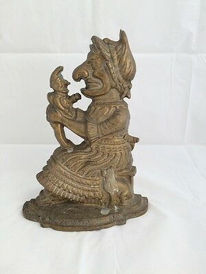 Victorian Judy (Punch and Judy) Solid Brass Door Stop.