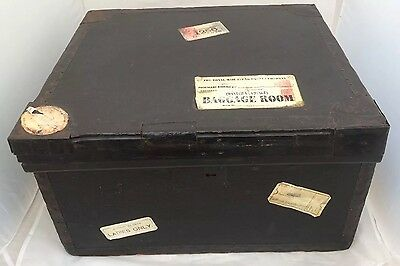 Vintage Early Twentieth Century Steamer Trunk By W White With Travel Labels.