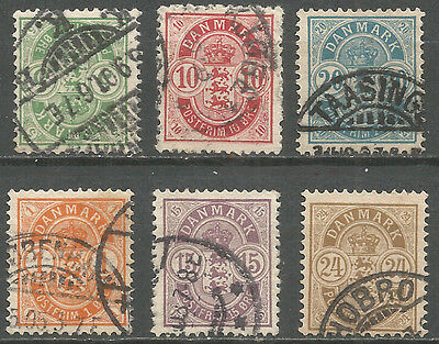 Denmark 1884 -1902 years used stamps 2 sets