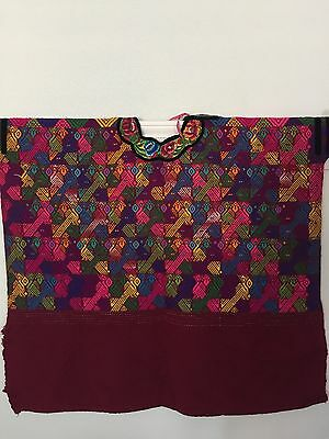 Mexican Huipil Poncho Hand Woven Embroidered Top