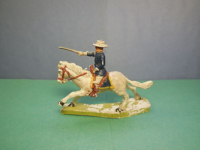 CHERILEA 60 mm Mounted US 7th Cavalry Vintage 1960's Plastic Toy Soldier 1:32
